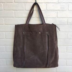 All Saints Bags - All Saints La Fleur Grey Suede Boho Handbag
